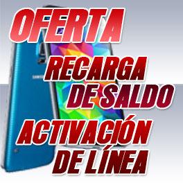 Oferta de recarga de móviles
