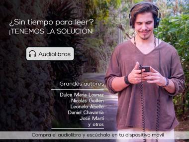 Banner promocionando audiolibros