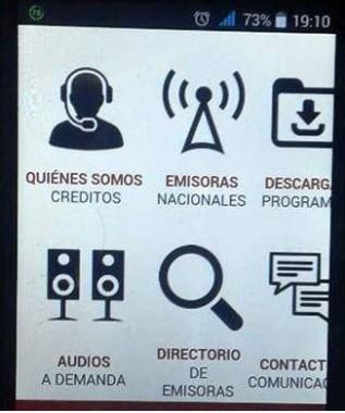 Aplicación para móviles de la Radio cubana.